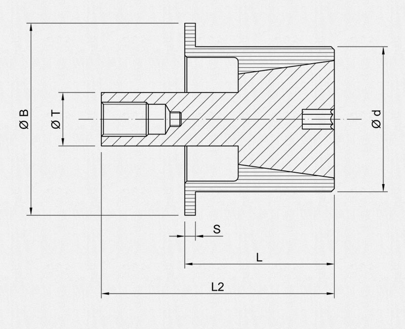 Expandable PE Collet - Technical drawing