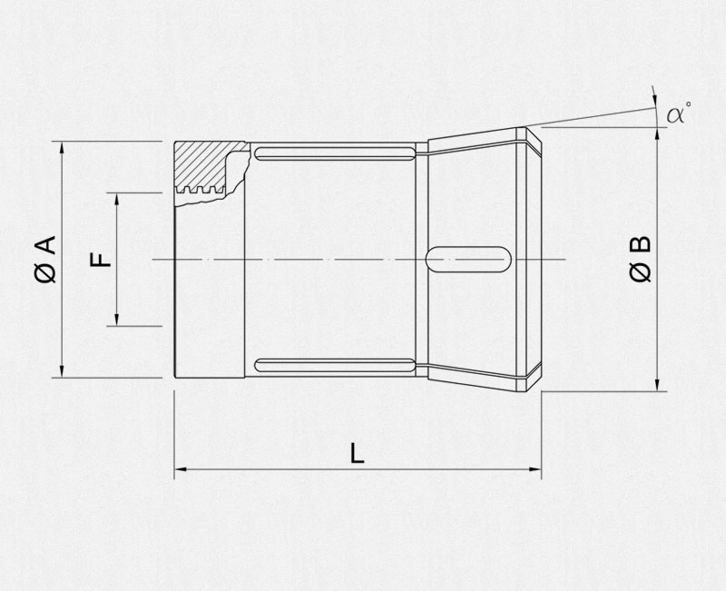 Gildemeister pickup collets technical draw