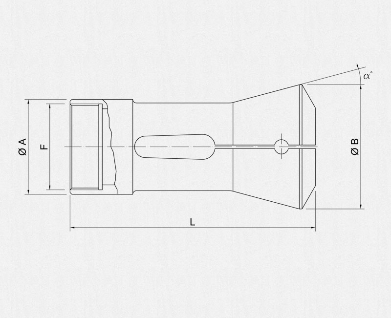Mori-Say bar holding collets technical drawing