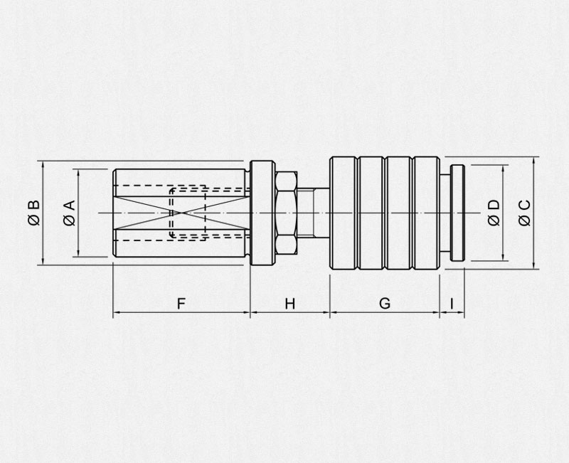 PRC Compensation Push Rod - Technical drawing